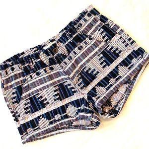 "Jolt 2.5"" woven tribal print shorts size 1"